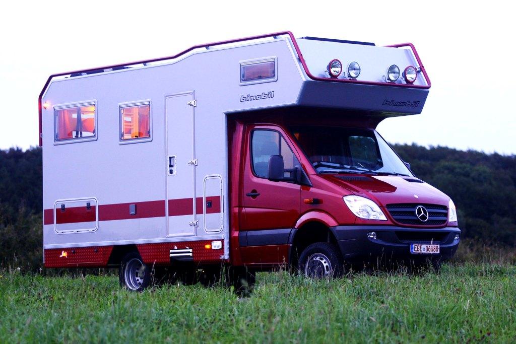 несъемные жилые фургоны (автодома) Bimobil